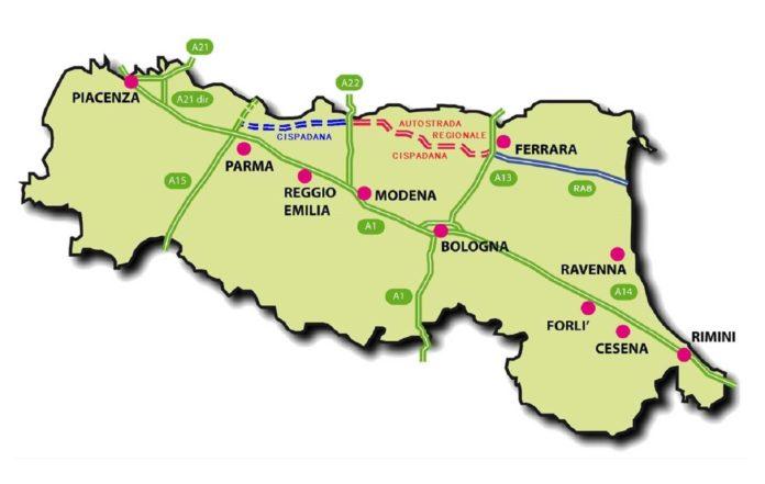 cispadana Viabilità dell'Emilia Romagna